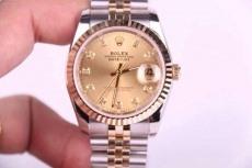 069劳力士B3460947006 包18K金 钢带 机械男表 私人定制版真金真钻手表