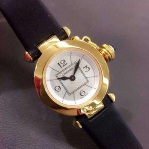 183卡地亚 水壶系列B164605928001 石英女表 24K包金 私人定制真金真钻手表