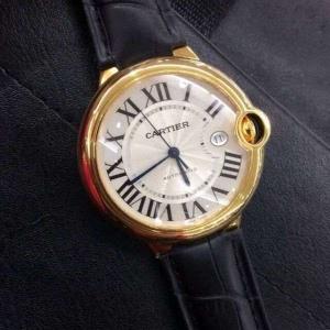 184卡地亚 蓝气球B164655952001 皮带 机械男表 18K包金 私人订制真金真钻手表
