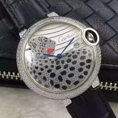 390卡地亚 蓝气球豹系列 B2950911007J50 皮带 机械中性表