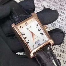 146伯爵.黑带系列.包18k金B346413936008 皮带 机械男表真金真钻手表
