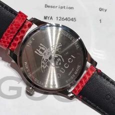 083古驰.G-TIMELESS系列 B3821431597001 蜥蜴皮带 石英女表