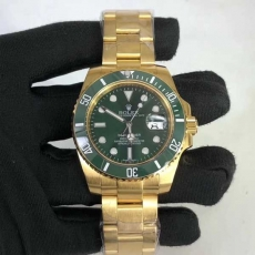 371劳力士.绿水鬼.24k包金B346258953001 钢带 机械男表真金真钻手表