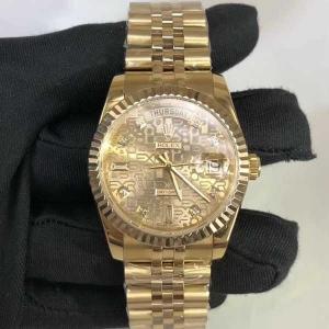 377劳力士.日志型系列.18K包金B346257946003 钢带 机械男表真金真钻手表