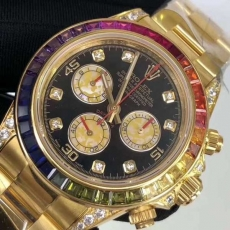 372劳力士.迪通拿.24K金B346253953002 钢带 机械男表真金真钻手表