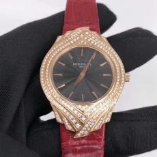 402百达翡丽.古典系列.真金真钻B346359420005 美洲鳄鱼皮带 机械女表真金真钻手表