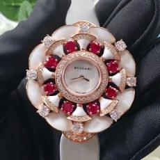 092宝格丽.创意珠宝系列B132478914005 绸缎表带 石英女表