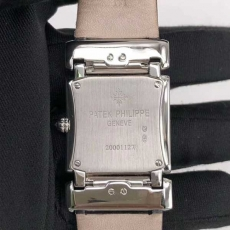 403百达翡丽.TWENTY~4系列.18k真金真钻 绢丝带 石英女表真金真钻手表