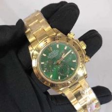 395劳力士.迪通拿.24k包金 B346143949009 钢带 机械男表真金真钻手表