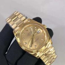 401劳力士.日志型系列.18K包金B346257947005 钢带 机械男表真金真钻手表