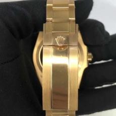 399劳力士.绿水鬼.24k包金B346258953001 钢带 机械男表真金真钻手表
