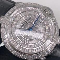 604卡地亚.蓝气球.真金真钻B346891060006 皮带 机械男表真金真钻手表