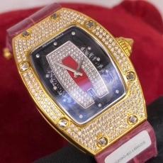 154理查德米勒.24K包金B346771954005 皮带 机械男表真金真钻手表