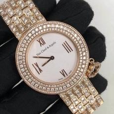 056梵克雅宝.CHARMS系列.18K真钻真钻B34671591280006 钢带 石英女表真金真钻手表