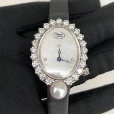 104宝玑.高级珠宝腕表系列.18K真金真钻B3466540009536 绢丝带 石英女表真金真钻手表