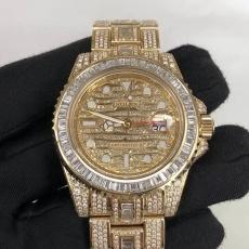 646劳力士.格林尼治型II.18K真金真钻B3461450009266 钢带 机械男表真金真钻手表