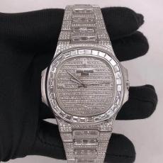 558百达翡丽.运动优雅系列.18K真金真钻B34685600009246 钢带 机械男表真金真钻手表
