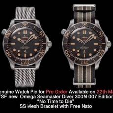 417欧米茄.007海马系列B4678532921504 帆布带+钢带 机械男表  VS
