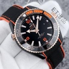 456欧米.海洋系列B5351302913007 橡胶带 机械男表 ET